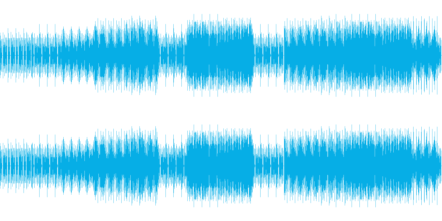 8ビットゲームサウンドBGM 01の再生済みの波形