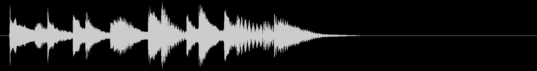 ほのぼの可愛い木琴マリンバ三重奏ジングルの未再生の波形