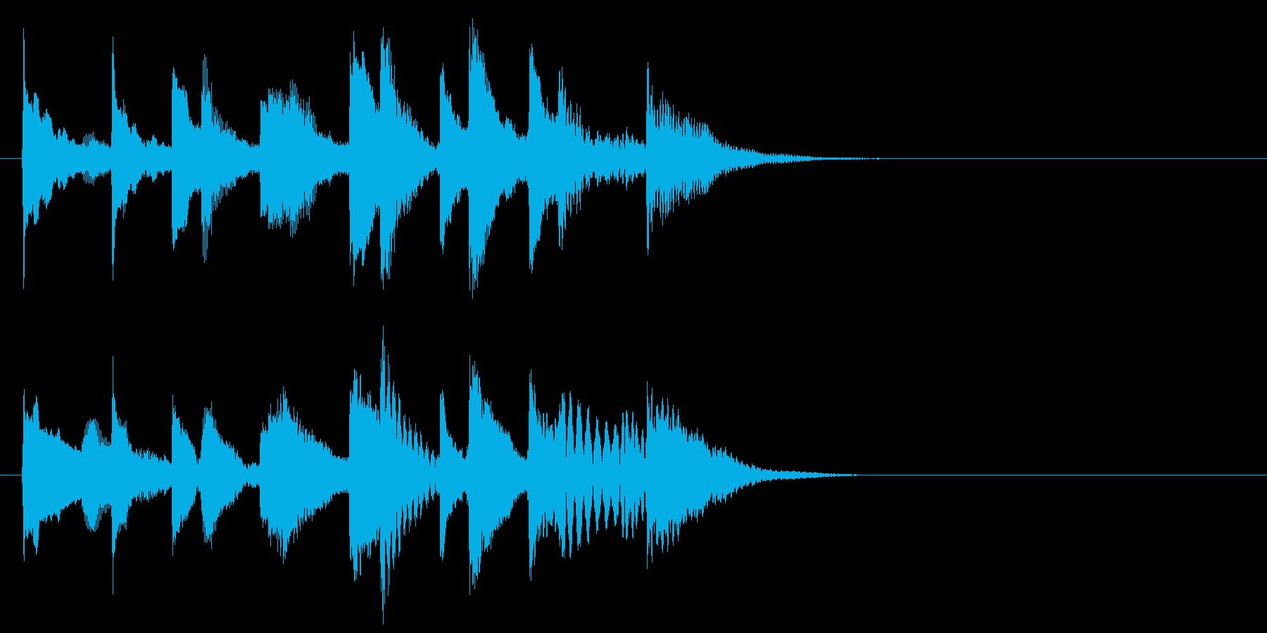 ほのぼの可愛い木琴マリンバ三重奏ジングルの再生済みの波形