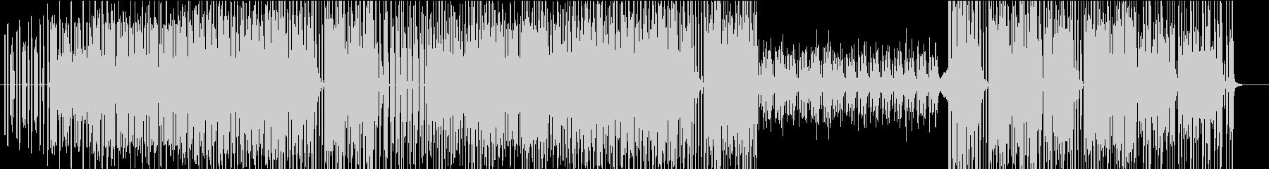軽快なテクノポップBGMの未再生の波形