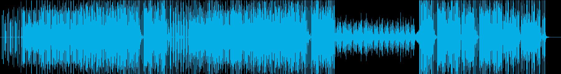 軽快なテクノポップBGMの再生済みの波形