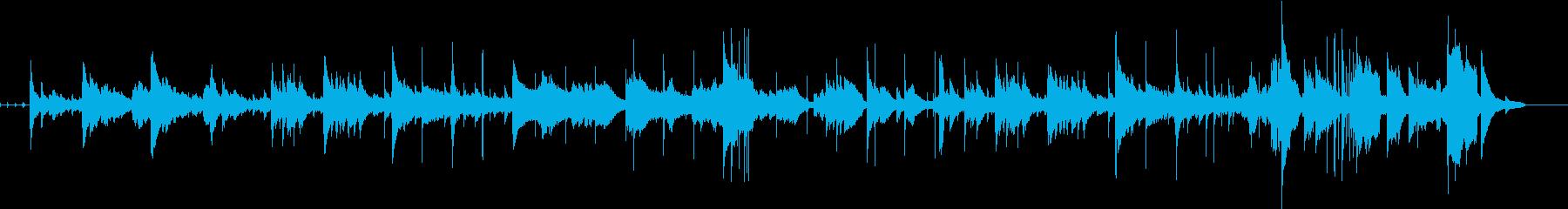 ピアノとベースの印象的な曲の再生済みの波形