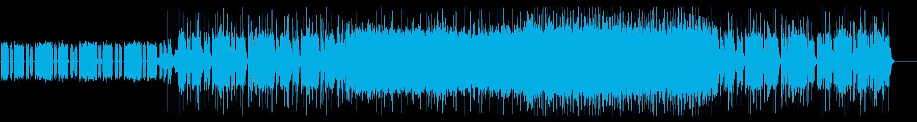 凶悪な重低音リフのメタル・コアの再生済みの波形