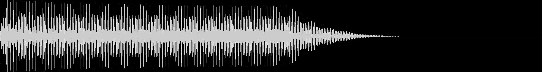 選択音 決定音 シンプル A10の未再生の波形