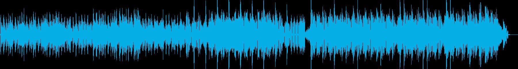 民族調のメロディとシンセをMIXした曲の再生済みの波形