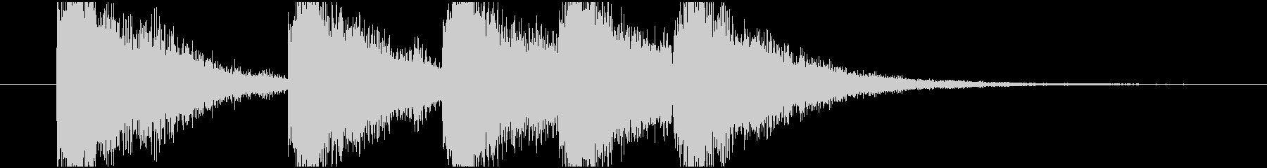 明るいタイトルロゴの未再生の波形