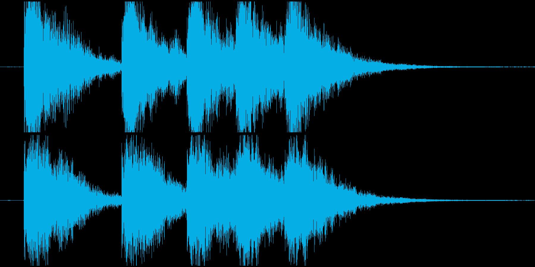 明るいタイトルロゴの再生済みの波形