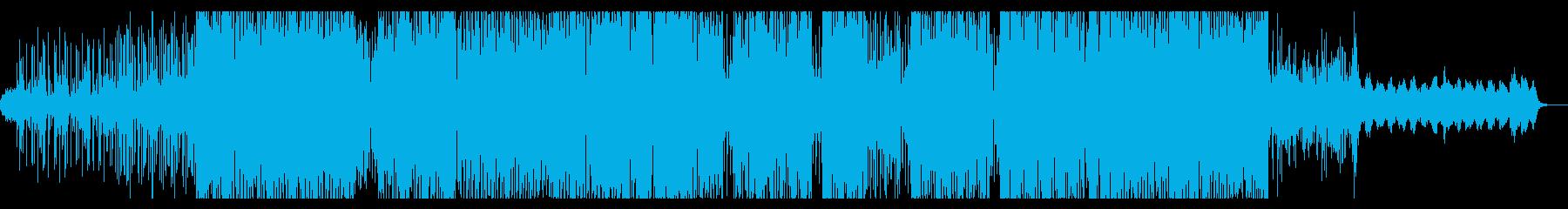 怪しい雰囲気のミニマルトライバルテクノの再生済みの波形