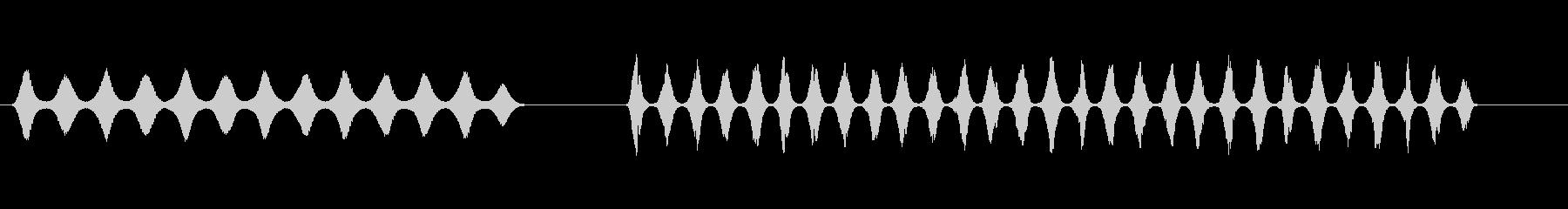 電気電気ハムドップラー、低速、高速の未再生の波形