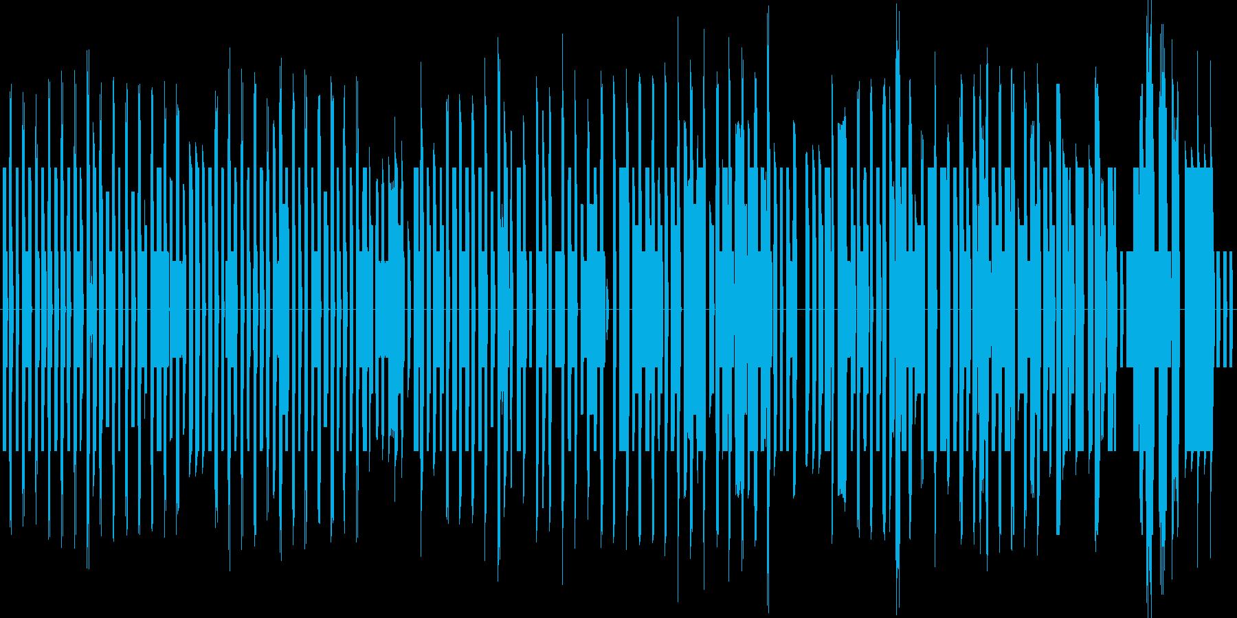 80年代のアーケードゲーム風の音楽ですの再生済みの波形