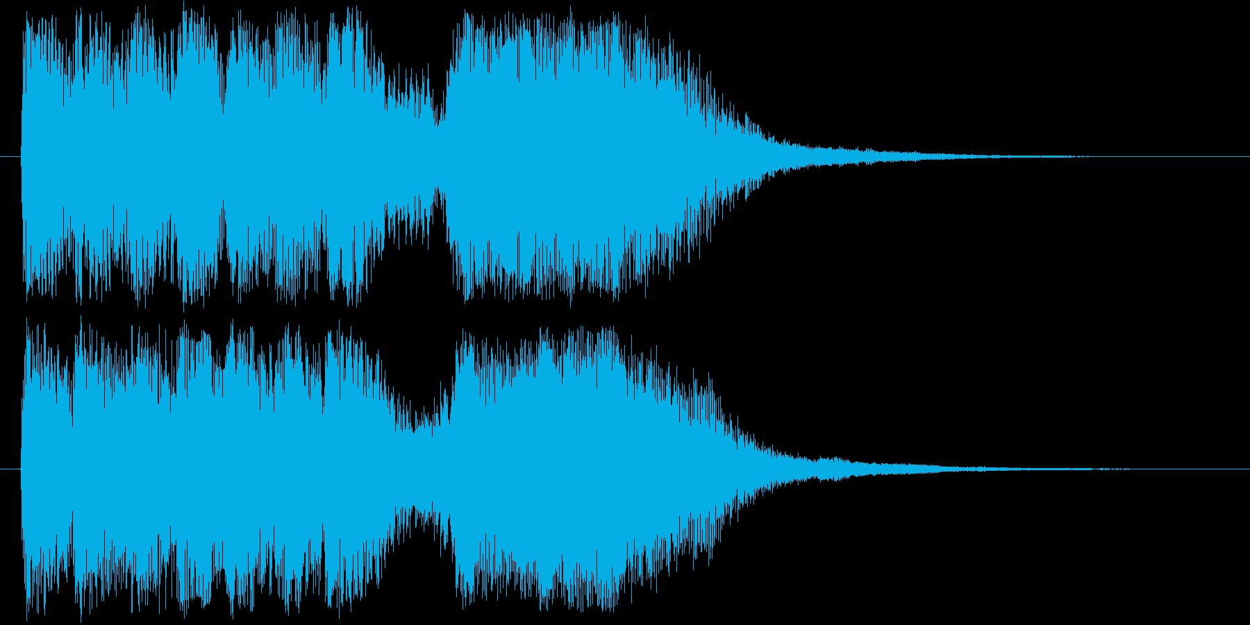 レベルアップっぽいかわいいジングルの再生済みの波形