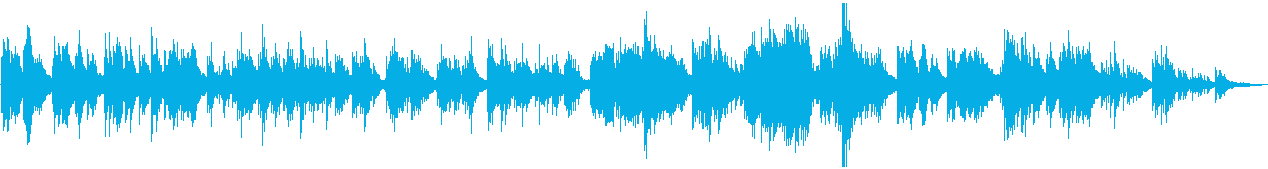 静かなピアノソロの再生済みの波形