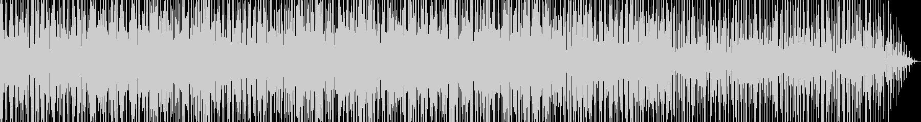サンバ風なリズムのパーカッションインストの未再生の波形