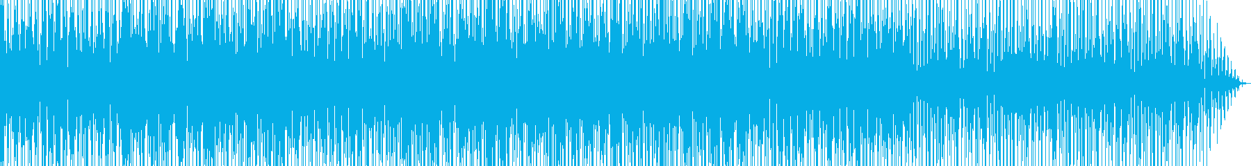 サンバ風なリズムのパーカッションインストの再生済みの波形