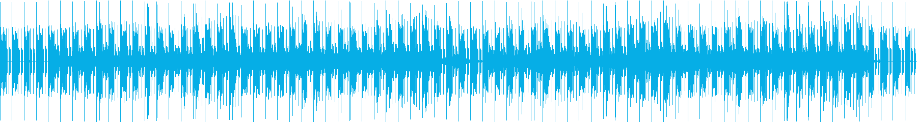 緊迫感あるSF向けBGMの再生済みの波形