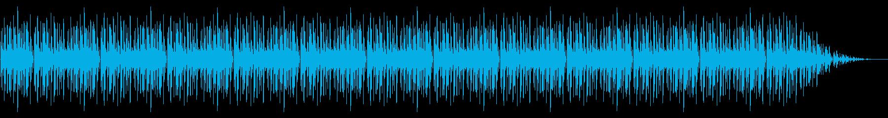 GB風パズル・カードゲームのリザルト曲の再生済みの波形