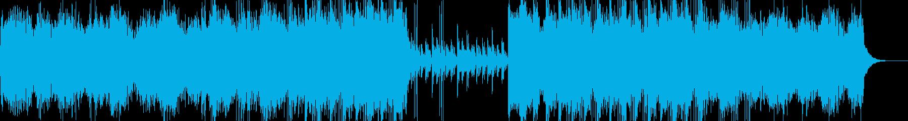 宇宙空間イメージの落ち着くアンビエント曲の再生済みの波形
