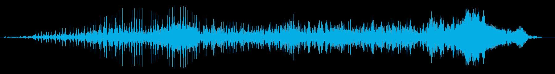 ゾンビの声(唸り声)の再生済みの波形