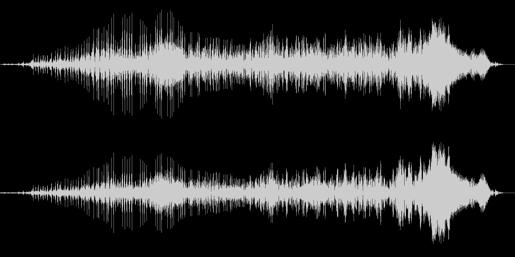 ゾンビの声(唸り声)の未再生の波形