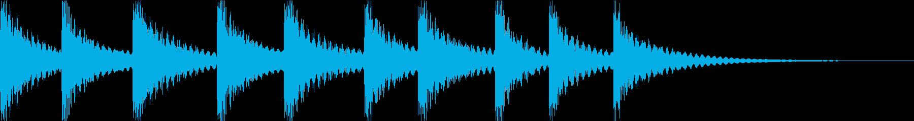 コミカルなパーカッション_気づいた時の再生済みの波形