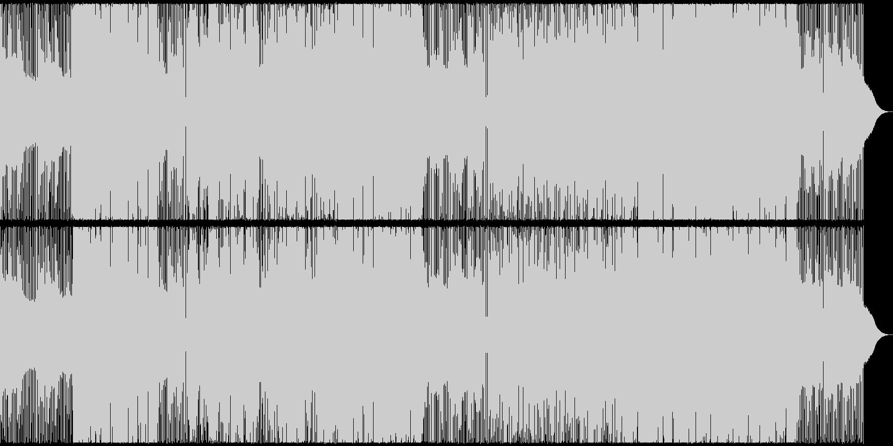 男女混声のミドルテンポの失恋ソングの未再生の波形