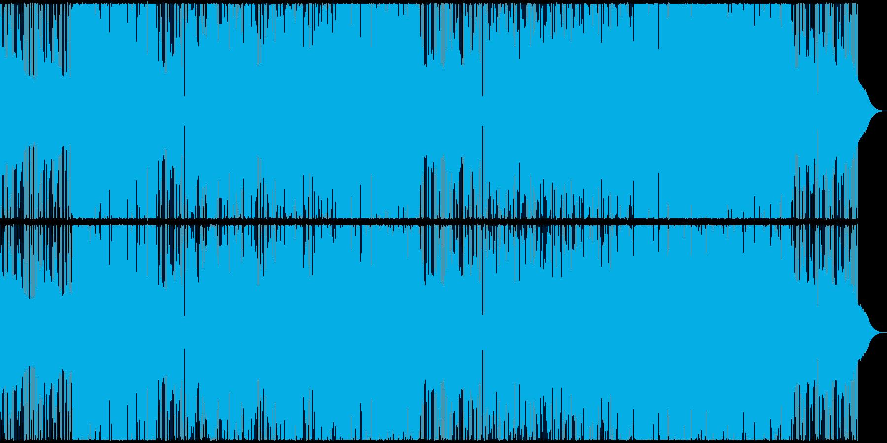 男女混声のミドルテンポの失恋ソングの再生済みの波形