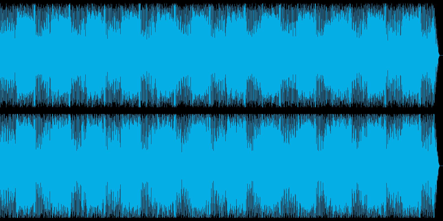 疾走感ある爽やかな四つ打ちの曲の再生済みの波形