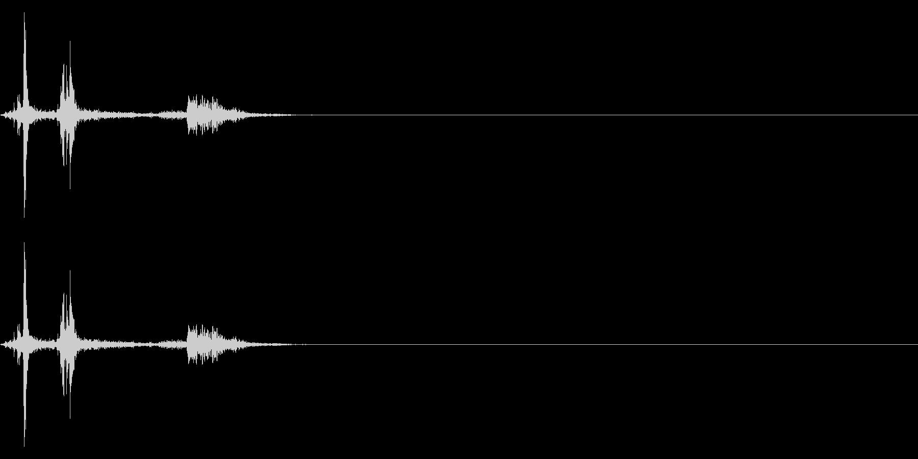 パシャッ_カメラのシャッター音の未再生の波形