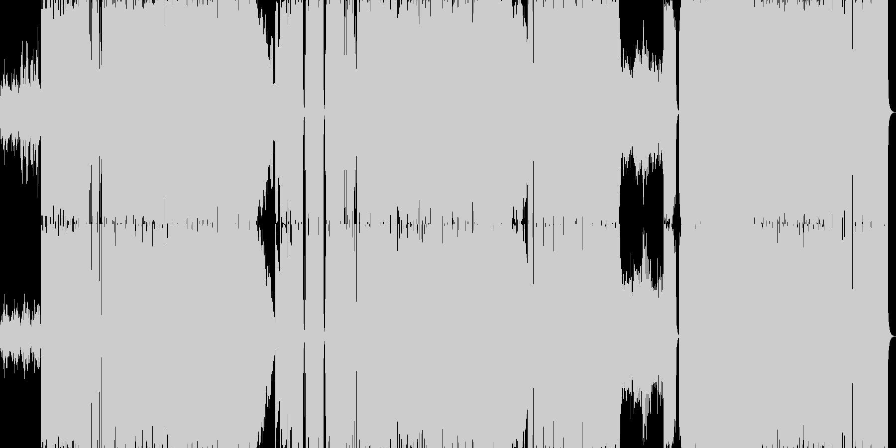 緊迫感のあるギターサウンドの未再生の波形