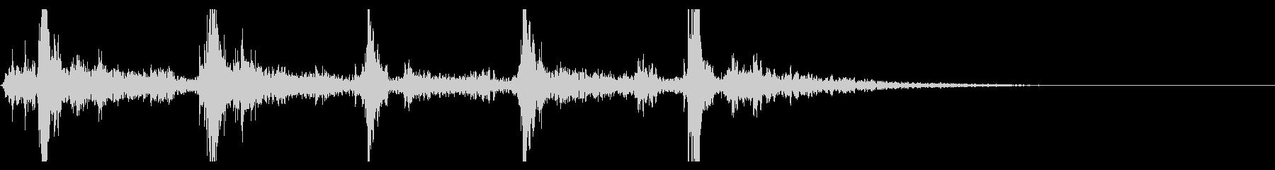 シャン×5回(鈴の音・広がる・神秘的)の未再生の波形