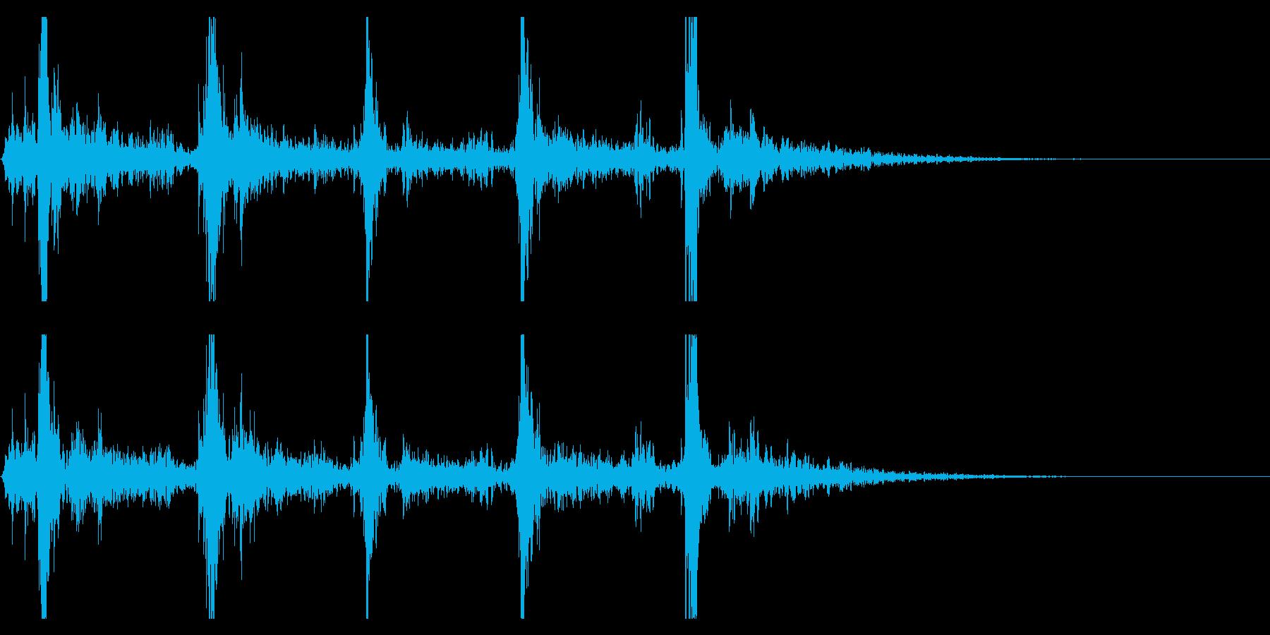 シャン×5回(鈴の音・広がる・神秘的)の再生済みの波形
