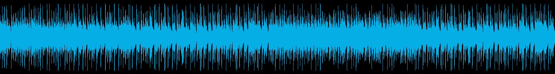 和太鼓と三味線と尺八が織り成す和風音楽の再生済みの波形