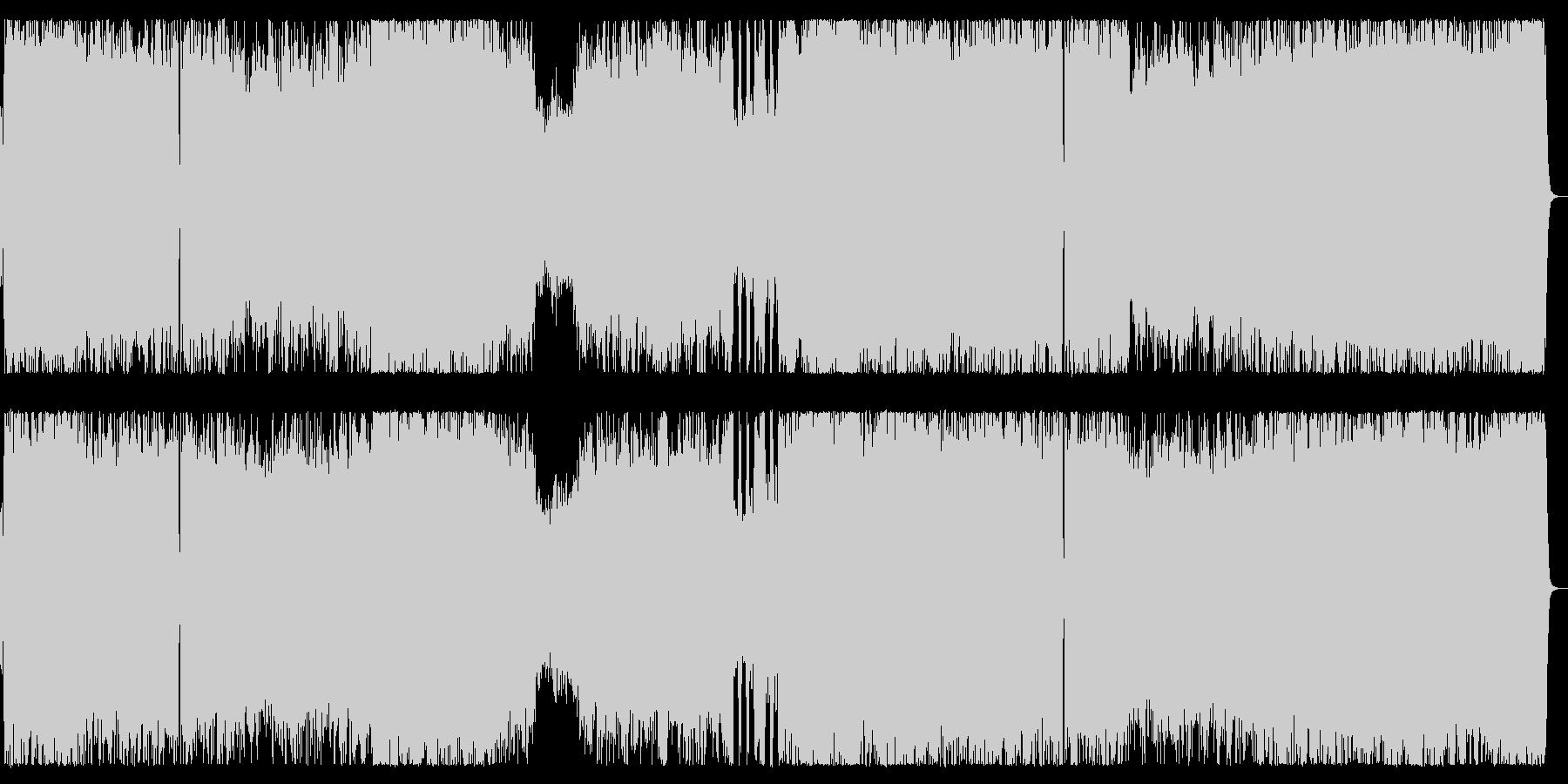 流麗なメロディのメタル疾走チューンの未再生の波形