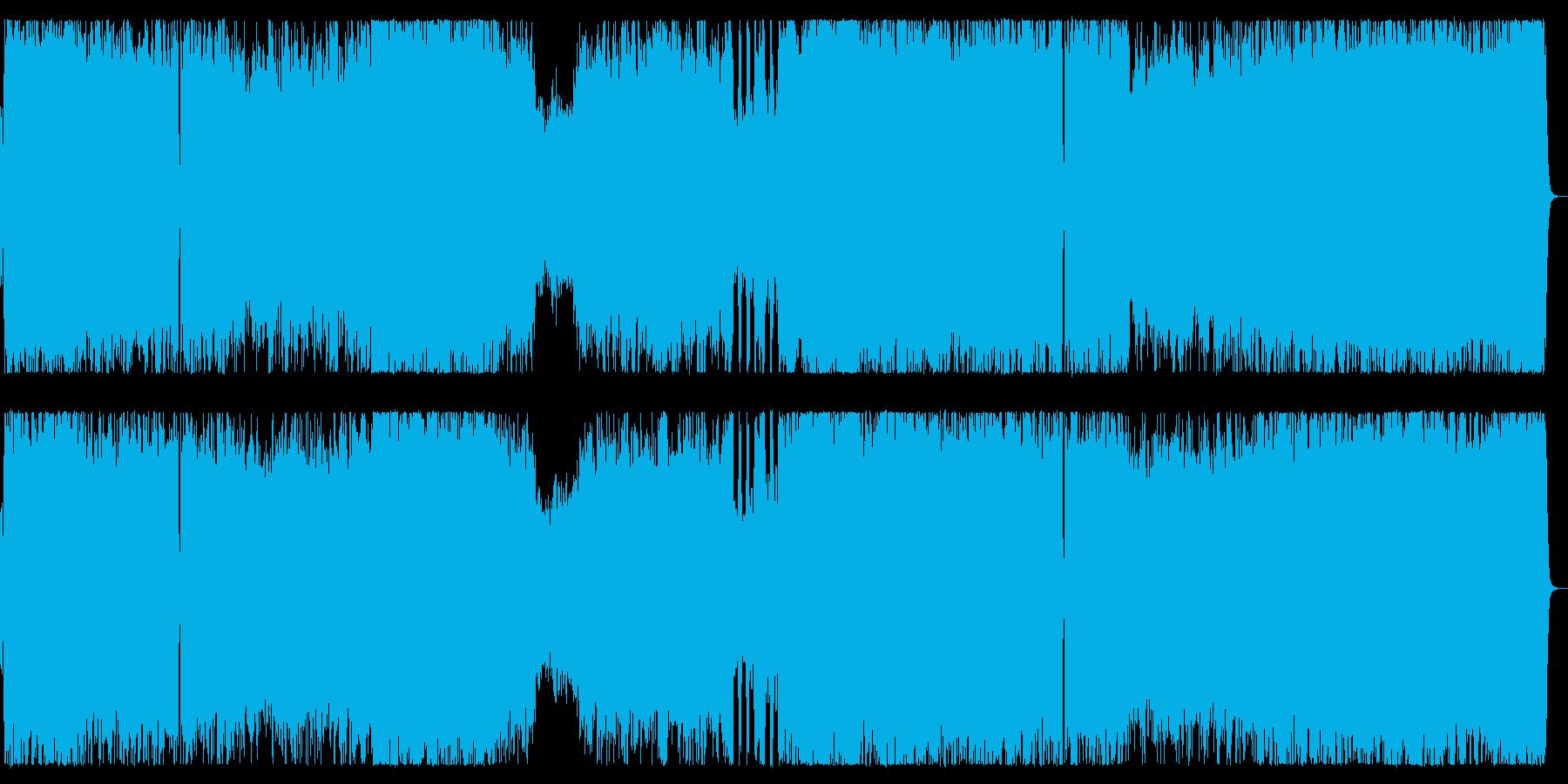 流麗なメロディのメタル疾走チューンの再生済みの波形