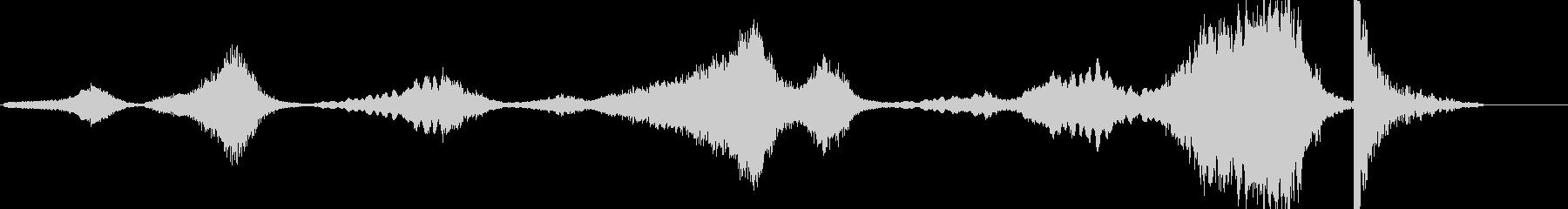ホラーやサスペンスの恐れるシーン的BGMの未再生の波形