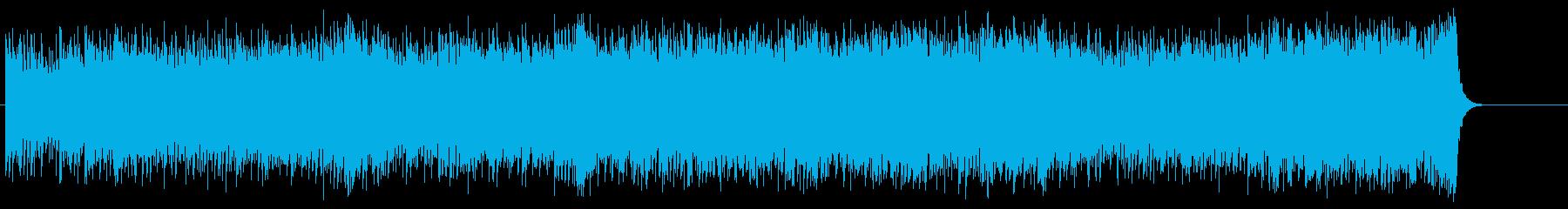 問題意識を残すエンディング向けポップスの再生済みの波形
