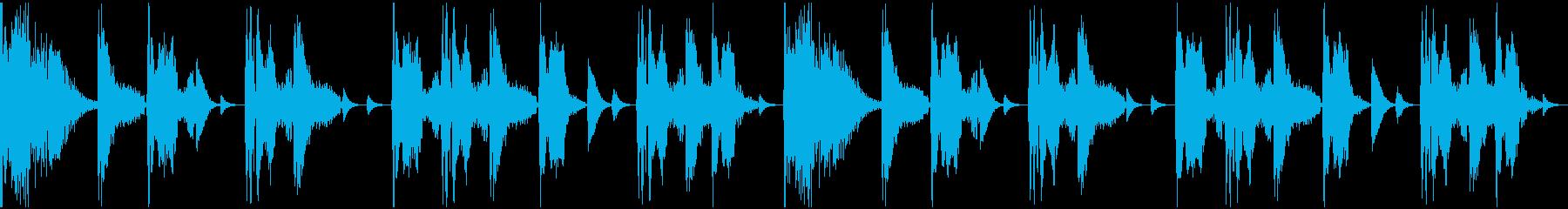 【エレクトロニカ】ロング3、ショート5の再生済みの波形