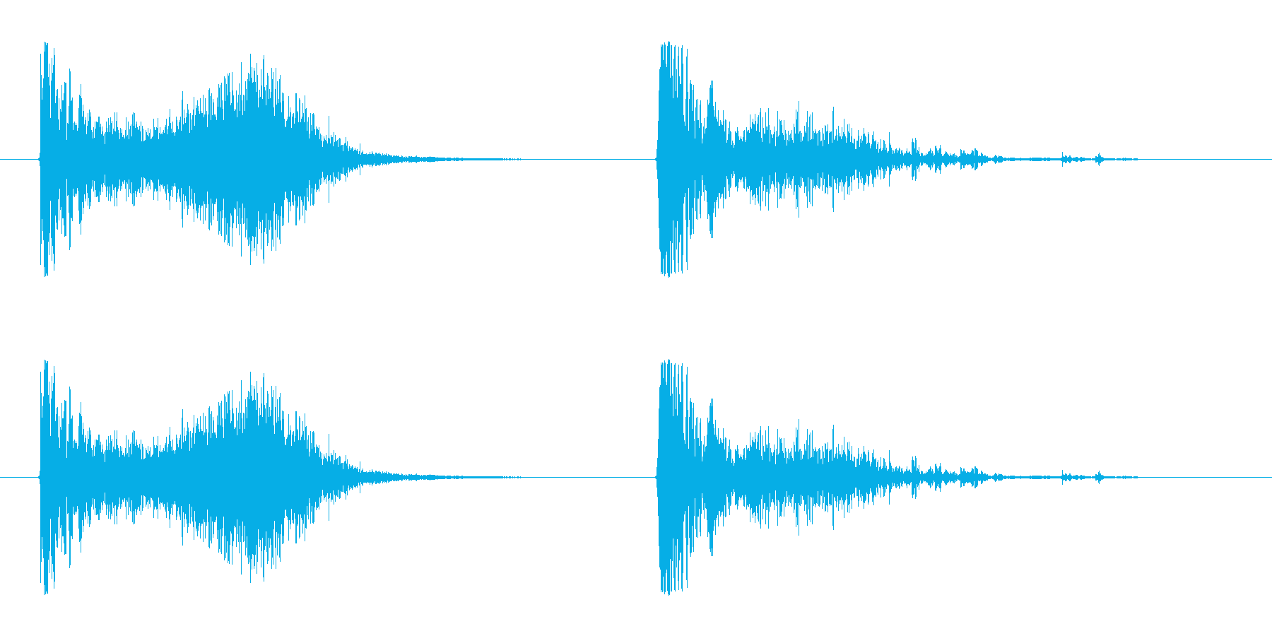 ミサイルが命中後中爆発 ドヒューンの再生済みの波形