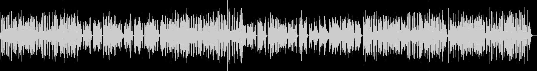 ラテンリズムの軽やかで可愛いピアノBGMの未再生の波形