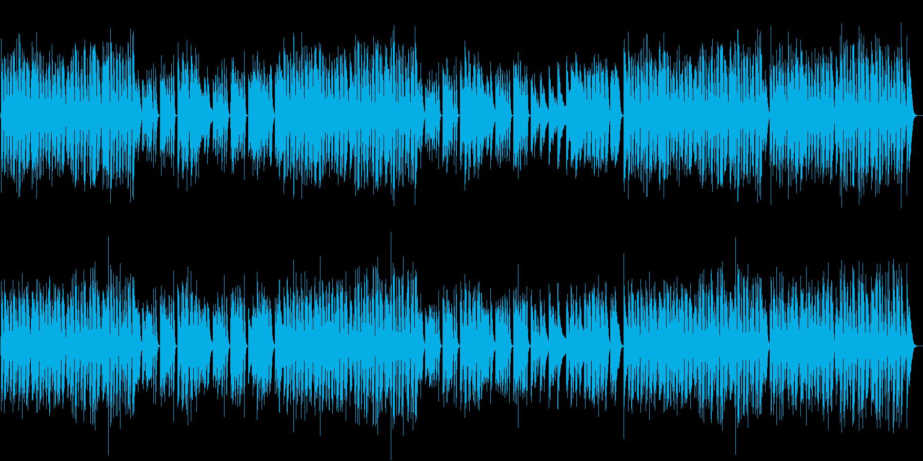 ラテンリズムの軽やかで可愛いピアノBGMの再生済みの波形