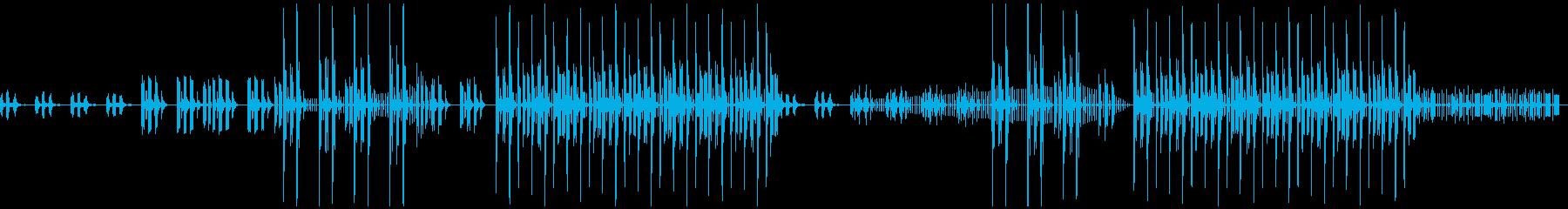 トラップ、冬、BGMの再生済みの波形
