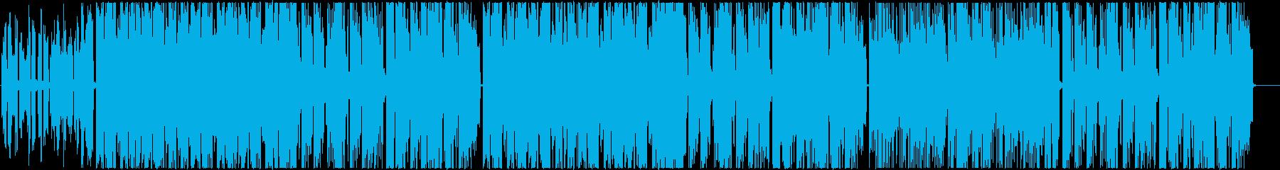 ポップで軽快なフューチャーベースの再生済みの波形