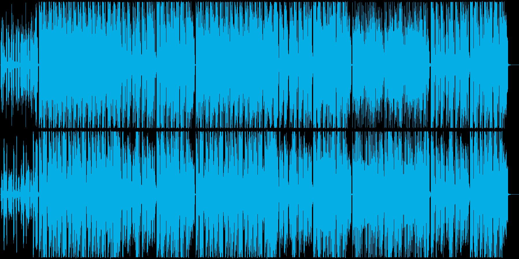ポップで明るいフューチャーベースの再生済みの波形
