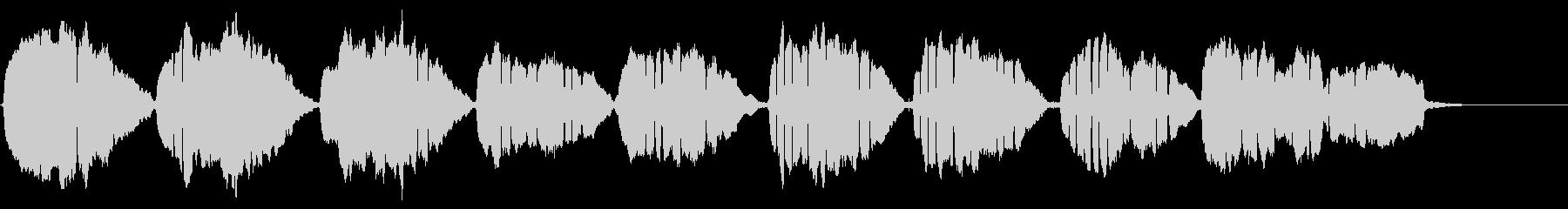 怖い「通りゃんせ」のアコーディオンソロの未再生の波形