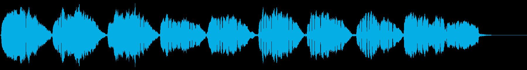 怖い「通りゃんせ」のアコーディオンソロの再生済みの波形