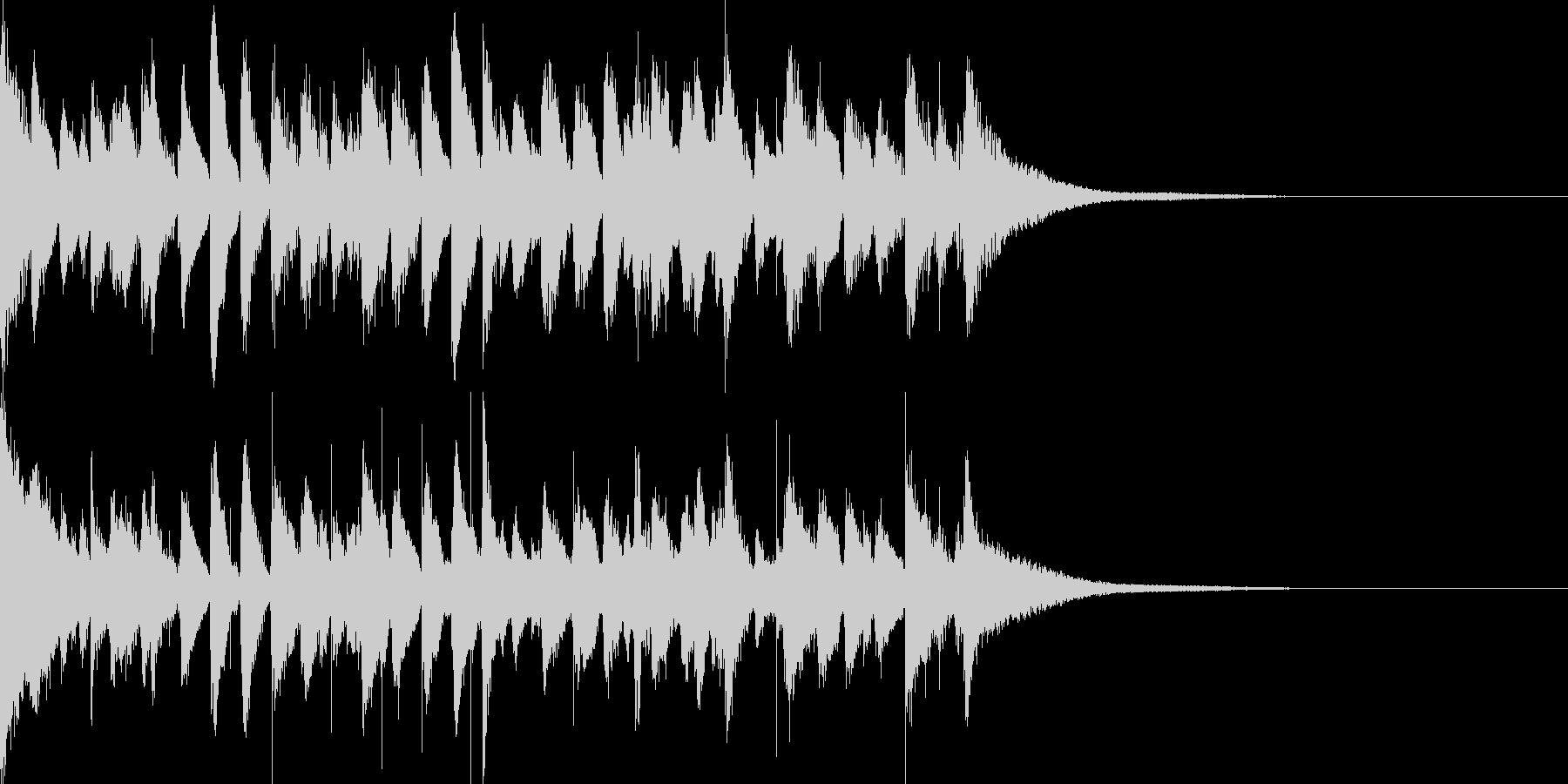 お洒落なジャズのジングル7アップテンポの未再生の波形