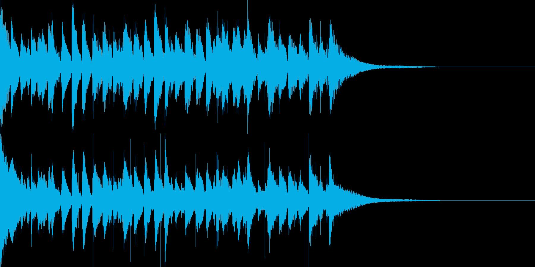 お洒落なジャズのジングル7アップテンポの再生済みの波形