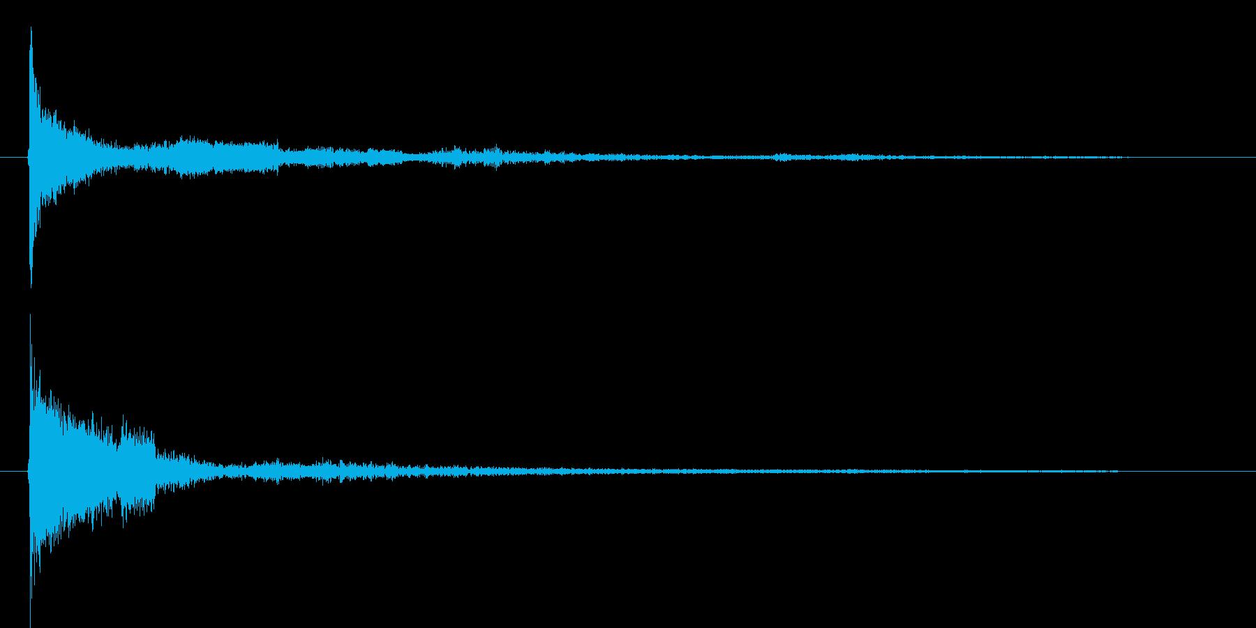 パリーン(ボタンクリック音)の再生済みの波形