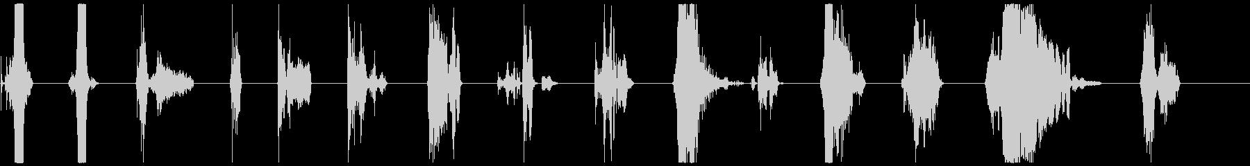 シングルゾンビスクリーム、女性1-14の未再生の波形