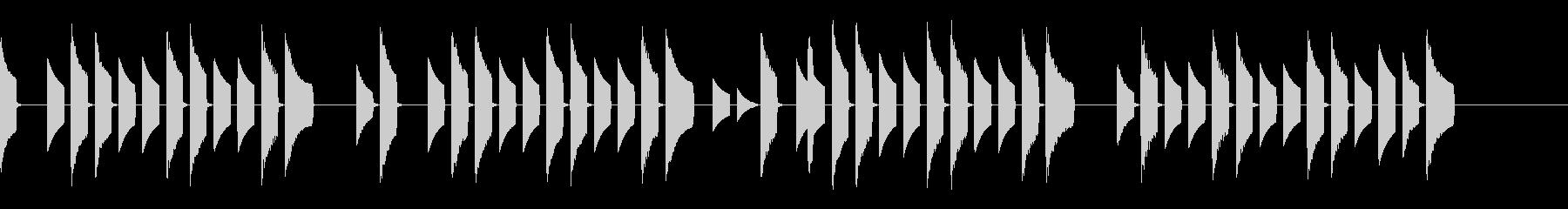 夕焼け小焼け 8bit ファミコン風の未再生の波形